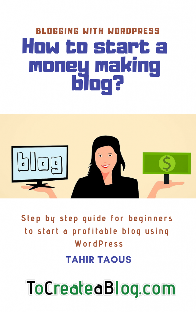 how to start money making blog book