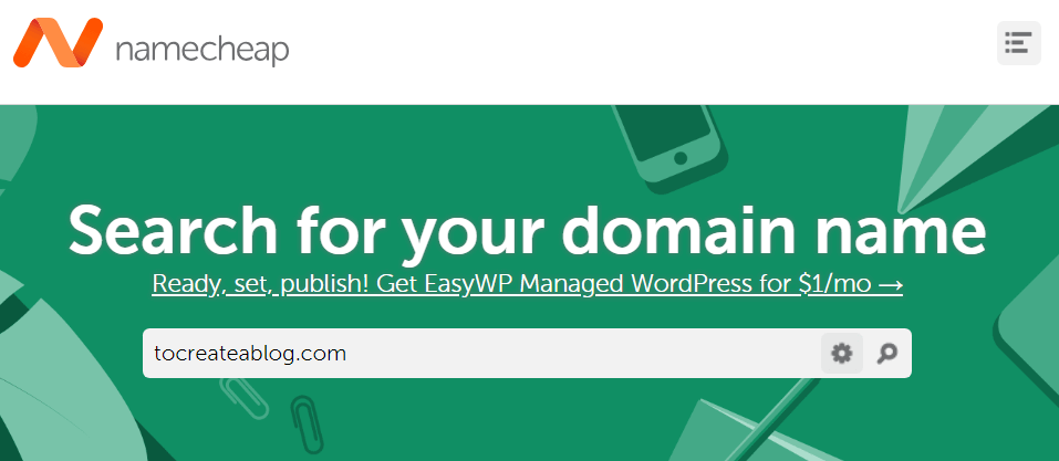 Register a domain name with Namecheap