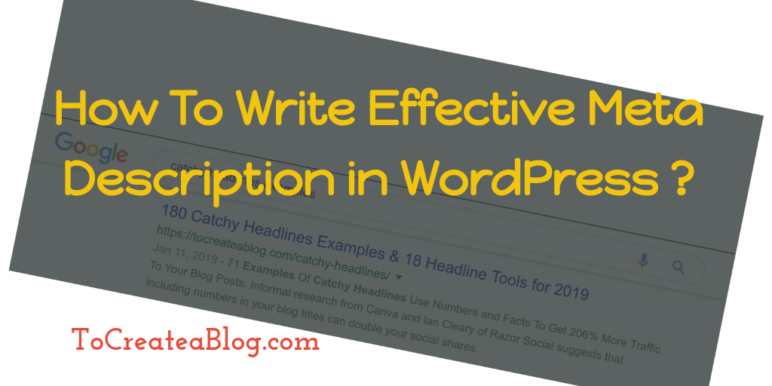 WordPress meta description title