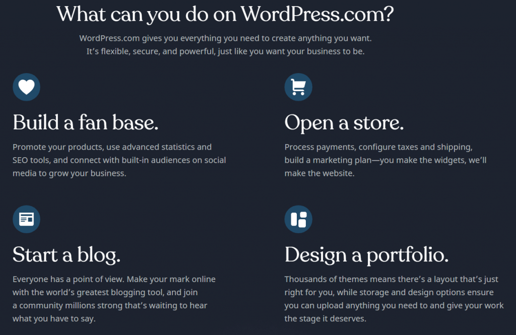 create website with wordpress.com